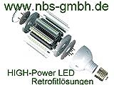 LED Leuchtmittel Straßenlampe E27 / E40 230V 15W 27W 36W 45W HQL HQI Ersatz Straßenbeleuchtung Retrofit (15 Watt)