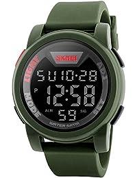 Relojes hombre digital reloj de pulsera militar deportivo para hombres impermeable (5 ATM) de