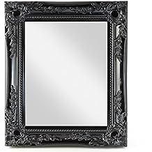 Miroir mural rectangulaire - Miroir baroque noir rectangulaire ...