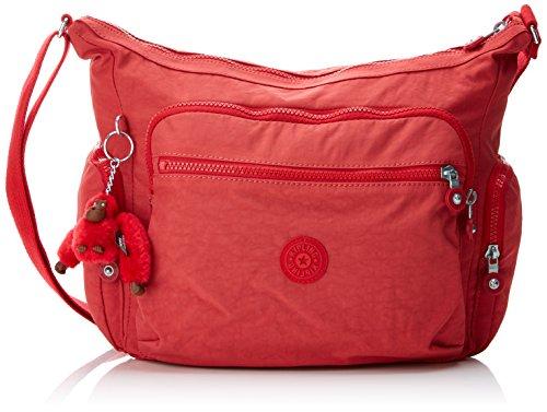 Kipling GABBIE BP Damen Schultertaschen, Rot (Spicy Red C), 35.5x30x18.5 cm Rot Tasche