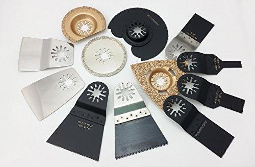Preisvergleich Produktbild 12-tlg. Zubehör-Set mit Diamantblatt für Multimaster-System, LOSE, Sägeblätter, Schleifblätter