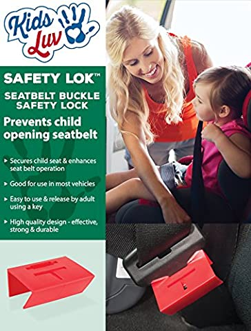 KidsLuv™ SAFETY LOK™ Seatbelt Buckle Safety Lock 2 pk -