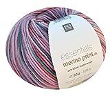 Merinowolle Rico essentials Merino Print dk, Fb. 01 mix-rosa, Merinowolle bunt, zum Stricken & Häkeln