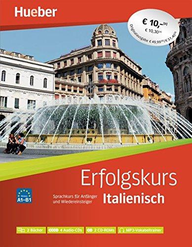 Erfolgskurs Italienisch: Paket: 2 Übungsbücher + 4 Audio-CDs + 2 CD-ROMs