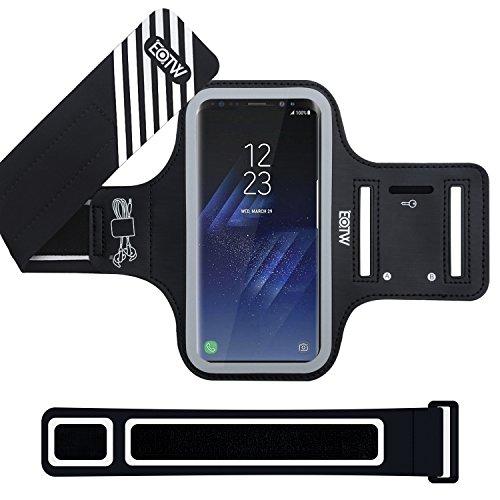 EOTW Brazalete Deportivo Samsung Galaxy S8 Plus con Extensor Correa Bandas para el brazo Brazalete Correr con bolsillo para llaves auriculares tarjetas y móviles para running corriendo Gimnasio, Negro