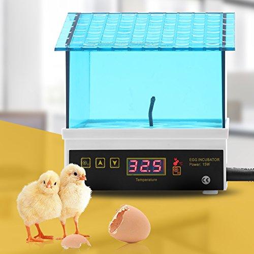 Cocoarm Inkubator Vollautomatisch 4 Eier Brutkasten Brutmaschine Brutapparat Digitale Intelligent Inkubationsgerät für Huhn Ente Gans und Wachtel(4 Eier)