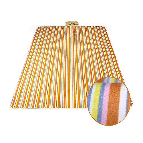 XY&CF 200 x 145 cm pique-nique couverture imperméable pad plage extérieure pique-nique tapis poignée (Couleur : B)