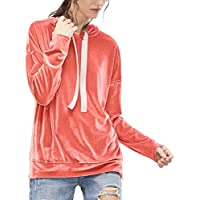 PAOLIAN Mode Damen Herbst Kapuzenpullover Casual Langarm Velvet Sweatshirt Jumper Hooded Pullover Tops Mantel preisvergleich bei billige-tabletten.eu