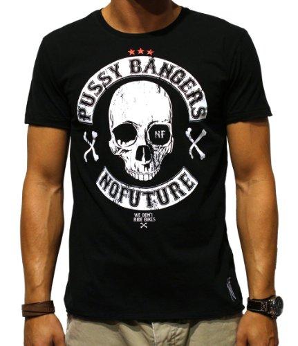 NO FUTURE Herren T-Shirt, Pussy Bangers, Rocker, Street Couture, black, NF/GAS-12-025, GR L