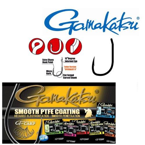 Gamakatsu Specialist Rx Haken - 10 Karpfenhaken zum Angeln auf Karpfen, Angelhaken zum Karpfenangeln, Einzelhaken, Öhrhaken, Größe:8 (Fischen Haken 10 0)