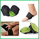 FAMEWORLD Unisex Multicolour Cushioned Arch Supports for Any Shoe, Sneakers, Sandals or Barefeet