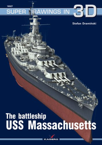 Battleship U.S.S. Massachusetts (Super Drawings in 3D) por Stefan Draminski