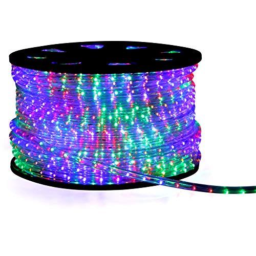 LED Lichterschlauch Lichtschlauch Beleuchtung 20m bunt multi 20 meter + Zuleitung