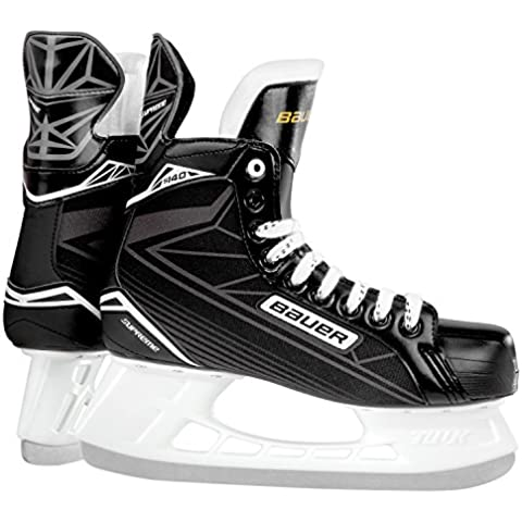Bauer joven Supreme S 140Junior–Patines de hockey sobre hielo para, niño, BAUER Schlittschuh Supreme S 140 Junior, negro / plata