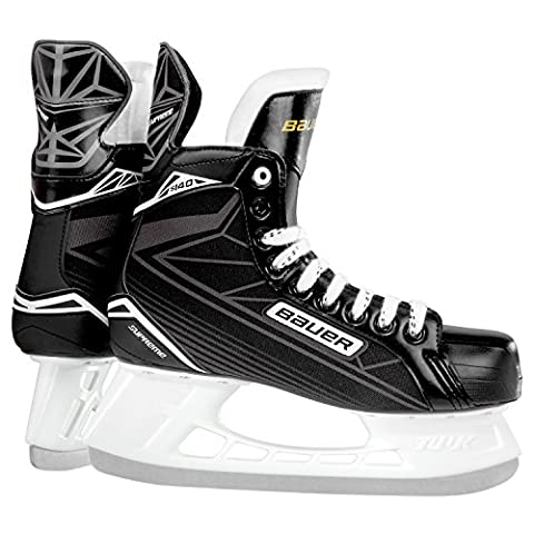 Bauer Supreme S 140Junior Jeunes Patins à glace Hockey sur glace patins à glace, Garçon, BAUER Schlittschuh Supreme S 140 Junior, Noir/Argent
