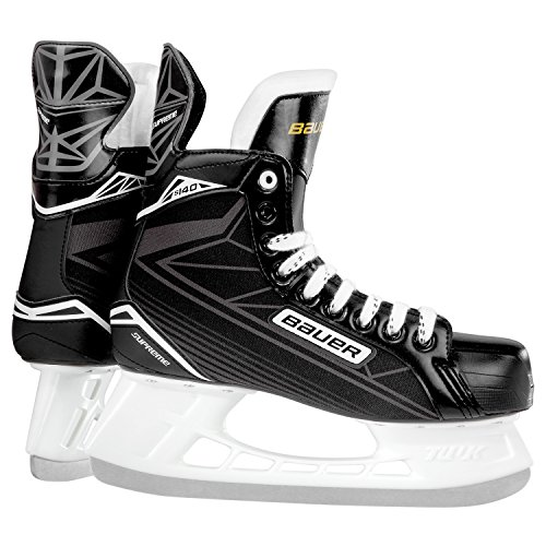 Bauer Niños Patines Supreme S 140 Youth Hockey Sobre Hielo Patines, Infantil, Schlittschuh Supreme S 140 Youth, Negro/Plata