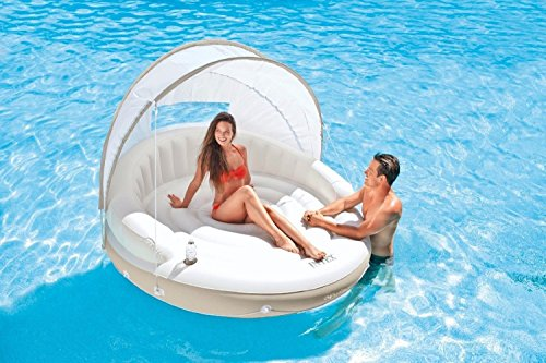 INTEX CANOPY ISLAND 78 X 59 INFLATABLE WATER LOUNGE RAFT | 58292EP BY INTEX