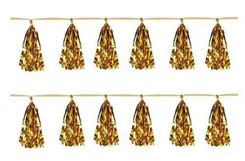 Beistle 59927-gd, 2Stück Metallischer Quaste, Girlanden, 24,8cm X 8'(Gold)