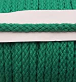 5 m Baumwollkordel 6 mm grün türkis