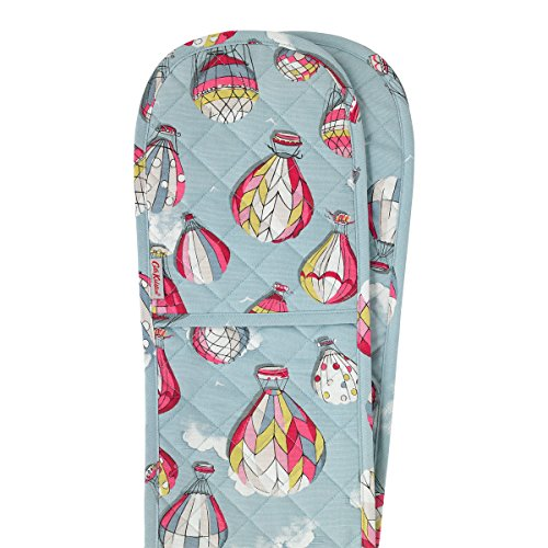 Cath Kidston Dusty Blue Hot Air Balloons Double Oven Glove