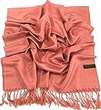 Coral Pink Solid Colour Design Shawl Scarf Wrap Stole Pashmina CJ Apparel NEW