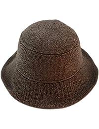 Dosige Sombrero de Punto otoño e Invierno Grueso Sombrero de Pescador  cálido Sombrero Exterior señoras Size d2fc60709d4