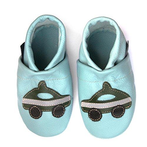 De Hellblau Com Bebê Polícia Pantau Couro Sapatos Sapatos eu grün Couro Rastejando Lauflernschuhe 0qqBSwgU
