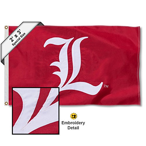 College Flags and Banners Co. Louisville Cardinals 2x 3Fuß Bestickt Nylon Flagge