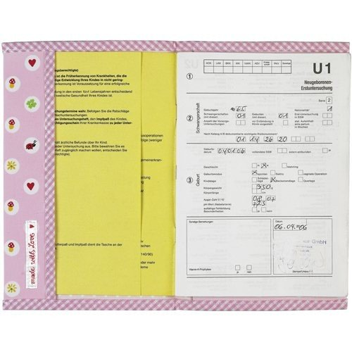 Preisvergleich Produktbild U-Heft Hülle BabyGlück, rosa
