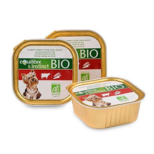 Terrine Bio in Rindfleisch für ausgewachsene Hunde fr-bio-10-Lot de 11Aluschale 150, G