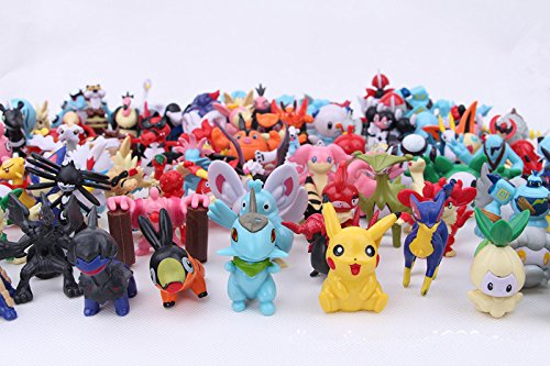 GIFTLOVERS Pokemon Random Characters Action Figures, 0.5-1.5 Inches (Multicolour) - Set of 24