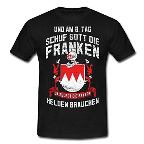 Spreadshirt Franken Helden Spruch Männer T-Shirt, L, Schwarz