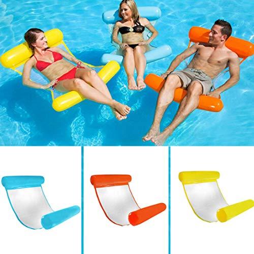 Pellisilot Wasser Hängematte Aufblasbare Wasserhängematte Bett Liege Leichte Schwimmendes Bett Aufblasbare Luftmatratze für Erwachsene und Kinder 170 KG