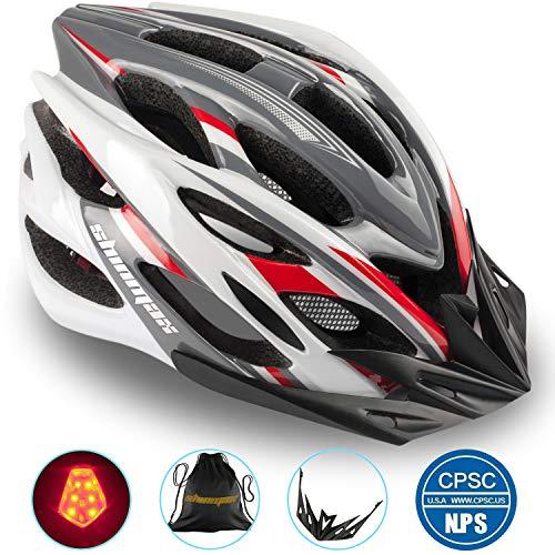 Casco da Bicicletta con Luce a LED,Certificato CE, A-Best Casco da Bicicletta Specializzato con Luce di Sicurezza Super Light Integralmente Casco da Bicicletta Casco da Bicicletta Adulta con Visiera