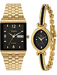 Espoir Analogue Multicolor Dial Men's & Women's Combo Watch 1918 Shruti