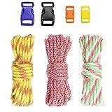 PSKOOK DIY Paracord Set Armband Kits Parachute Cord Combo Crafting Set mit Schnallen für Outdoor Survival Seil manuelle Flechten Armbänder und Zubehör