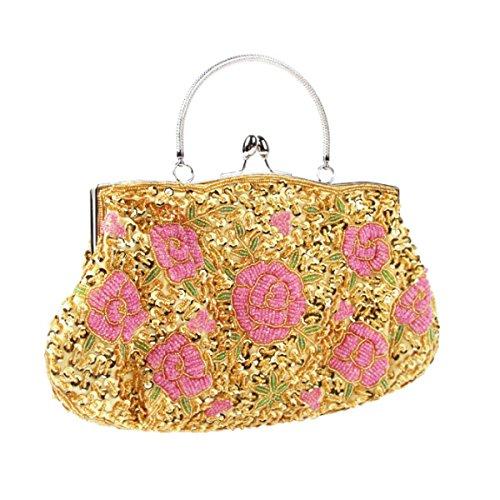 Frauen Retro Abendtasche Geldbeutel Handtasche Schultertasche H