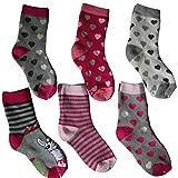 Lieblingsstrumpf24 6 Paar Kindersocken mit Innenfrottee Thermo Socken für Jungen und Mädchen