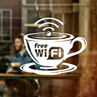 Wall4Stickers® Free WIFI Cup Window Sign Vinyl Sticker Graphics Cafe Shop Salon Bar Restaurant