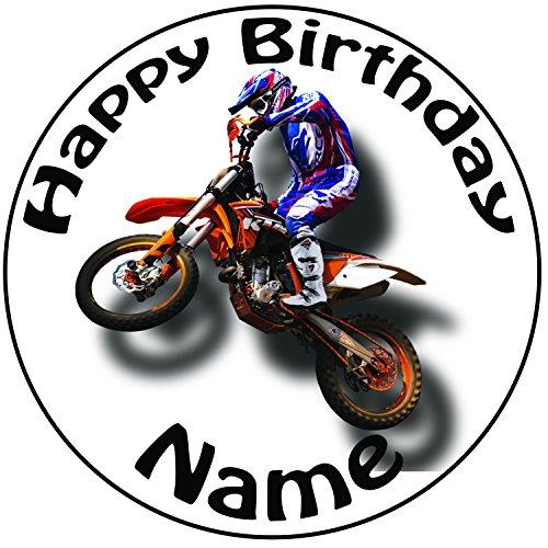 Motocross 24 Personalisierte Vorgeschnittene Kreise - Essbare Cupcake Aufleger / Geburtstagskuchen Dekorationen - 2