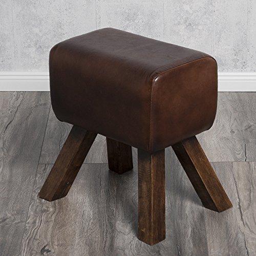 Hocker / Turnbock MAXIMO brown Echtleder