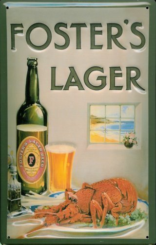 fosters-lager-beer-metal-lobster-tin-sign-sheet-metal-tin-sign-20-x-30-cm