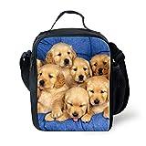 Coloranimal Stylish Lunch Boxes Lovely Dog Labrador Prints Lunchbag for Kids Boys Girls
