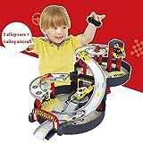 WDXIN Toy Garage Parkhaus Reifenparkplatz Nähzeug für Kinder Parkwagen Koffer Geschenk für Kinder,A