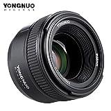 Andoer Yongnuo YN50mm F1.8Gran Apertura AF Enfoque automático FX DX lente de fotograma completo...