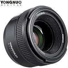 Andoer Yongnuo YN50mm F1.8Gran Apertura AF Enfoque automático FX DX lente de fotograma completo para nikon