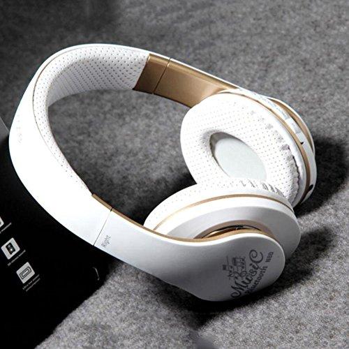 YAN Neue N80 Bluetooth Kopfhörer Stirnband Kann Stereo Heavy Bass Bluetooth Wireless Music Kopfhörer für Telefon, iPad, MP3-Player, Tabletten und Vieles Mehr anrufen (Color : Weiß)