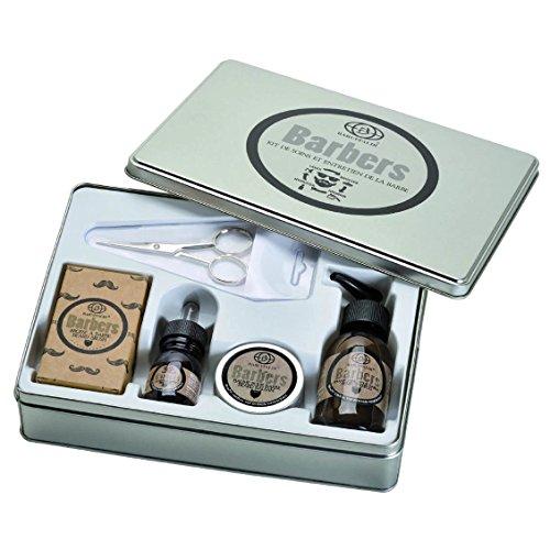 Kit de Soins et Entretien de la Barbe 5 pcs. Deluxe: Shampooing Barbe, Baume Barbe, Huile à Barbe, Brosse à Barbe, Ciseaux à Barbe - Barbers by Baruffaldi