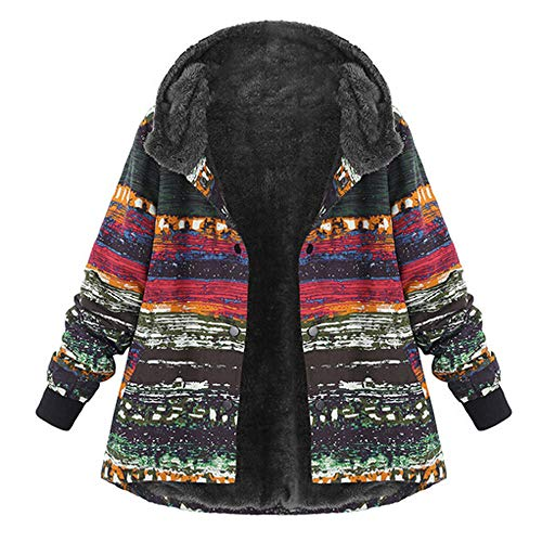 TOPKEAL Jacke Mantel Damen Herbst Winter Sweatshirt Dicker Steppjacke Kapuzenjacke Plus Size Hoodie Long Sleeve Vintage Pullover Flauschiger Outwear Coats Tops Mode ()