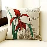 PLL Blumen Pflanzen Muster Retro Kissen Baumwolle Leinen Wohnzimmer Sofa Kissen Kissen Büro Auto Rückenlehne